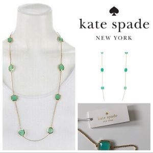 NWT Kate Spade Vegas Jewels Necklace Turquoise